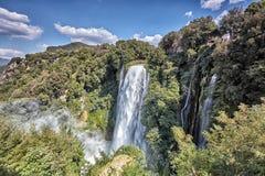 Cascata Delle Marmore siklawy w Terni, Umbria, Włochy zdjęcie stock