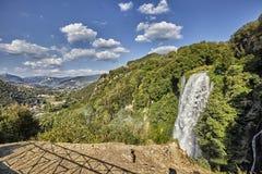 Cascata Delle Marmore siklawy w Terni, Umbria, Włochy fotografia royalty free