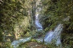 Cascata Delle Marmore siklawy w Terni, Umbria, Włochy zdjęcia royalty free
