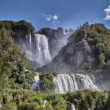 Cascata Delle Marmore siklawy w Terni, Umbria, Włochy obraz royalty free