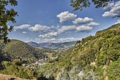 Cascata Delle Marmore siklawy w Terni, Umbria, Włochy fotografia stock