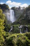 Cascata Delle Marmore waterfalls in Terni, Umbria, Italy royalty free stock photography