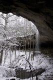 Cascata dello Snowy Fotografia Stock Libera da Diritti