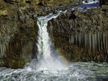 Cascata di Aldeyjarfoss Fotografia Stock Libera da Diritti