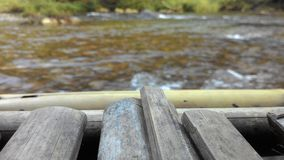 cascata di bambù Fotografie Stock