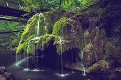 Cascata di Bigar, Romania fotografia stock