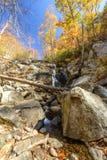 Cascata di caduta delle acque, Ridge Parkway blu, la Virginia Fotografie Stock
