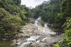 Cascata di Chamang, Bentong, Malesia Fotografia Stock