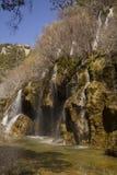 Cascata di Cuervo, Cuenca, Spagna Fotografia Stock