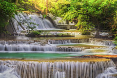 Cascata di Erawan Fotografia Stock