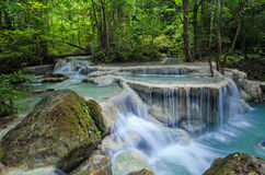 Cascata di Erawan, Kanchanaburi, Tailandia Fotografia Stock