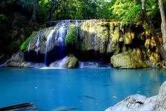 Cascata di Erawan, Kanchanaburi, Tailandia Fotografie Stock Libere da Diritti