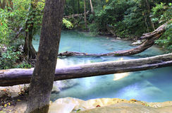 Cascata di Erawan, parco nazionale di Erawan, Kanchanaburi, Tailandia Fotografie Stock Libere da Diritti