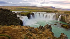 Cascata di Godafoss video d archivio