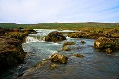 Cascata di Godafoss in Islanda Fotografia Stock