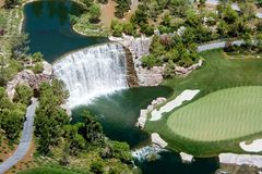 Cascata di golf Immagine Stock