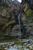 Cascata di Gollorio, Guadalajara, Spagna Immagini Stock Libere da Diritti