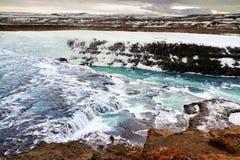 Cascata di Gullfoss fotografia stock