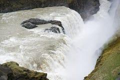 Cascata di Gullfoss, anello dorato, Islanda del sud Immagini Stock