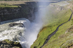 Cascata di Gullfoss, Islanda Immagine Stock