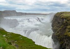 Cascata di Gullfoss - sud-ovest Islanda immagine stock