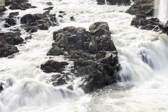 Cascata di Honefoss in Norvegia fotografie stock libere da diritti