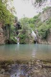 Cascata di Hotnitsa, area di Veliko Tarnovo Fotografie Stock Libere da Diritti