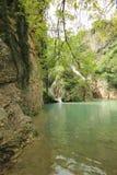 Cascata di Hotnitsa, area di Veliko Tarnovo Fotografia Stock Libera da Diritti