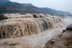 Cascata di Hukou del fiume Giallo della Cina Immagine Stock Libera da Diritti