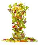 Cascata di insalata mista Stock Photo