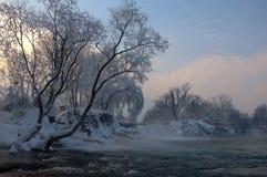 Cascata di inverno Fotografia Stock