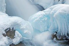 Cascata di inverno Immagine Stock