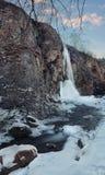 Cascata di inverno Fotografie Stock