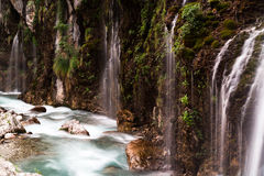 Cascata di Kapuzbasi, Cesarea, Turchia Fotografie Stock