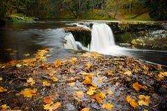 Cascata di Keila-Joa entro l'autunno Fotografia Stock