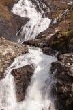 Cascata di Kjosfossen, Aurland, Norvegia Fotografie Stock Libere da Diritti