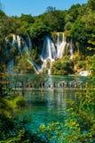 Cascata di Kravice sul fiume di Trebizat in Bosnia-Erzegovina fotografie stock