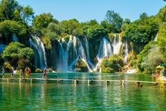 Cascata di Kravice sul fiume di Trebizat in Bosnia-Erzegovina fotografia stock