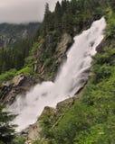 Cascata di Krimmel - una di più alte cascate in Europa Fotografia Stock Libera da Diritti