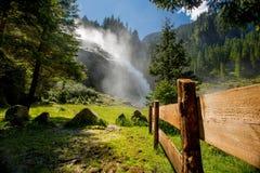 Cascata di Krimml, Austria Fotografia Stock