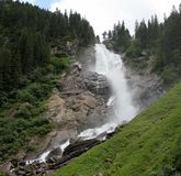 Cascata di Krimmler, Austria Immagine Stock