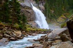 Cascata di Krimmler in Austria Immagine Stock Libera da Diritti