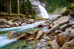 Cascata di Krimmler in Austria Fotografie Stock