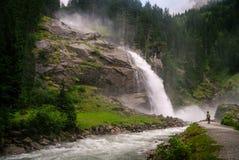 Cascata di Krimmler (Krimml) Più alta caduta in Austria (Tirolo) - A Immagini Stock