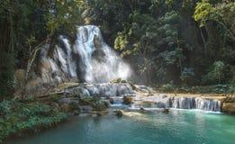 Cascata di Kuang Si Fotografia Stock