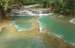 Cascata di Kuang Si Fotografia Stock Libera da Diritti