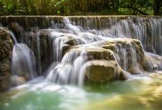Cascata di Kuang Si Immagine Stock Libera da Diritti