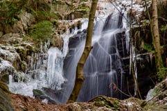 Cascata di Kysovicky Fotografie Stock