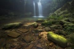 Cascata di Laitmawsiang vicino a Cherrapunjee Fotografia Stock