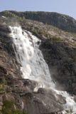 Cascata di Langfossen fotografie stock libere da diritti